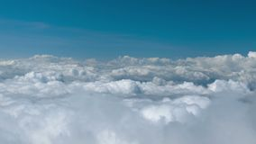 Cumulus clouds in the sky - a view from a high mountain. Chiang Mai, Thailand