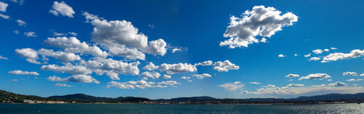 Cumulus clouds, St Tropez Royalty Free Stock Images