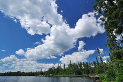 Cumulus Clouds on a Summer Day Stock Images