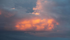 Cumulus clouds at sunset Royalty Free Stock Photography