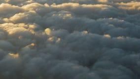 Cumulus clouds during sunset
