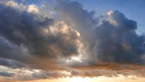 Cumulus Clouds Time Lapse During Sunrise stock video