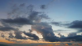 Cumulus Clouds Time Lapse During Sunrise stock footage