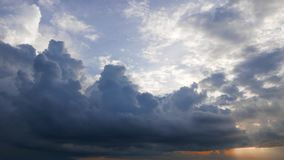 Cumulus Clouds Time Lapse 28 During Sunrise stock video footage