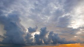 Cumulus Clouds Time Lapse During Sunrise stock video footage