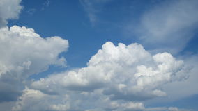 Cumulus Clouds Time Lapse Video stock footage