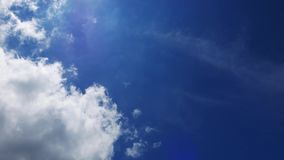 Cumulus Clouds Time Lapse 33. A time lapse video showing the motion and transformation of cumulus clouds stock footage