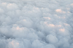 Cumulus clouds, view from the airplane Royalty Free Stock Photos