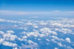Cumulus clouds stock images
