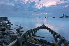Cumulus d'épave de côte Photos libres de droits