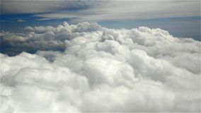 Between the cumulus and the high-layered stock video