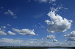 Cumulus landscape Stock Image