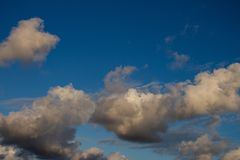 Cumulus nimbus huge in the sky. Cottony clouds that carry a storm royalty free stock photo