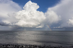Cumulus over the Baltic Sea Stock Photos