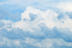 Cumulus skies as background Royalty Free Stock Images