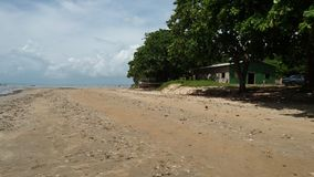Cumuruxatiba strand Arkivfoton