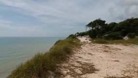 Cumuruxatiba strand Arkivfoto