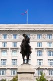 Cunard Building and Statue, Liverpool. Royalty Free Stock Images