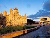 Cunard e museo di Liverpoolbuilding Fotografia Stock Libera da Diritti