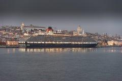 Cunards Königin Victoria Stockbild