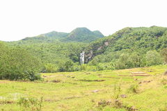 Cunca Rami Waterfall, East Nusa Tenggara. Cunca Rami Waterfall, beautiful waterfall at Mbeliling tropical jungle with rice field Labuan Bajo, West Manggarai Stock Images