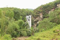 Cunca Rami Waterfall, Ost-Nusa Tenggara stockfoto