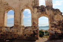 Cunda island church ruins Royalty Free Stock Images
