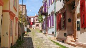 CUNDA, TURKIJE - MEI 2015: traditionele Turkse huizen, reisbestemming stock footage