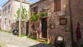 CUNDA, TURKIJE - MEI 2015: traditionele Turkse huizen, reisbestemming stock videobeelden