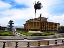 Cundinamarca, Κολομβία 11 Μαρτίου 2018 Πάρκο του Jaime Duque κοντά στη Μπογκοτά με ένα αντίγραφο του Taj mahal και του τραίνου στοκ εικόνες