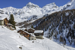 Cuneaz (瓦尔d'Aosta,意大利) 图库摄影