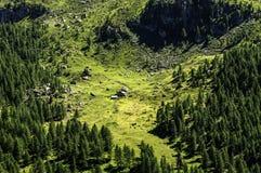 Cuneaz (das Aostatal, Nord-Italien) Pian lang Lizenzfreie Stockbilder