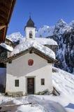Cuneaz, St. Lorenz kapel Royalty-vrije Stock Foto's