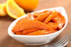 Cunei caramellati della patata dolce Immagini Stock Libere da Diritti