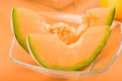Cunei del melone del cantalupo fotografia stock