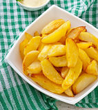Cunei fritti della patata Immagine Stock Libera da Diritti