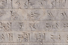 Cuneiform in Persepolis, Iran Stock Photos