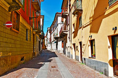 Cuneo. Architecture of the Medieval Piedmont City of Cuneo in Italy Stock Image