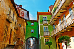 Cuneo. Architecture of the Medieval Piedmont City of Cuneo in Italy Stock Photo