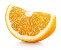 Cuneo degli agrumi arancio isolati su bianco Fotografia Stock