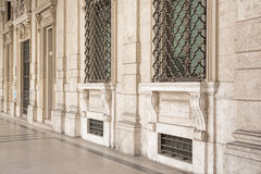 Cuneo detail. Detail of a magnificent palace on the main axis of the Piedmontese provincial capital Cuneo Stock Image
