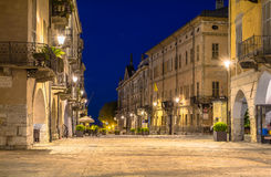 Cuneo. A night vision of Cuneo Royalty Free Stock Image
