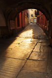 Cuneo, Piemonte, Italy. Pedestrian lane Royalty Free Stock Photography