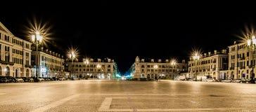 Cuneo - plaza Galimberti Fotografía de archivo libre de regalías