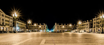 Cuneo - praça Galimberti Fotografia de Stock Royalty Free