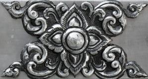 Ornamento simples, minted na prata foto de stock royalty free