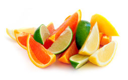 Cunhas do citrino Fotografia de Stock