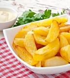 Cunhas fritadas da batata Imagem de Stock Royalty Free