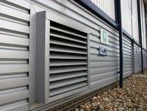 Cunicolo di ventilazione industriale Fotografia Stock