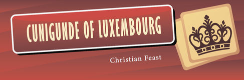 Cunigunde of Luxembourg Stock Photo